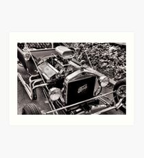 Big Motor, Little Rod Art Print