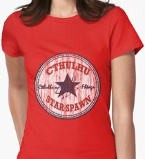 Cthulhu Star Spawn (distressed) Womens Fitted T-Shirt