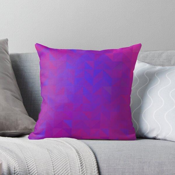 Neon Triangles Chaos Throw Pillow