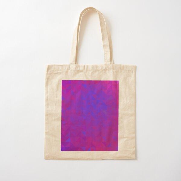 Neon Triangles Chaos Cotton Tote Bag