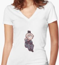 2p! Prussia Women's Fitted V-Neck T-Shirt