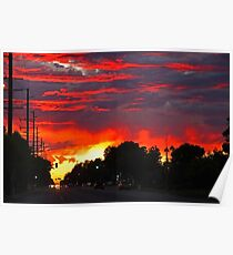 Sunset On 8th Street Poster