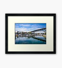 Granville Island in Vancouver, Canada Framed Print