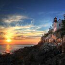 Sunset Glow - Bass Harbor by Lori Deiter