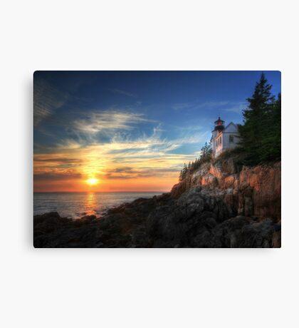 Sunset Glow - Bass Harbor Canvas Print