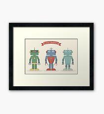 Vintage Robots Framed Print