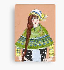 winter girl Canvas Print