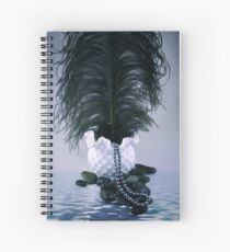 Feather and Pearls Spiral Notebook