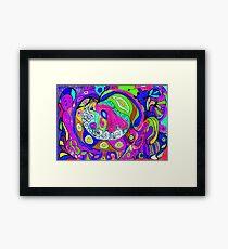 Swirlie Clouds of Brilliant Color Framed Print