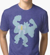 PKMN Silhouette - Machop Family Tri-blend T-Shirt