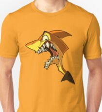 Angry orange shark with shading Unisex T-Shirt