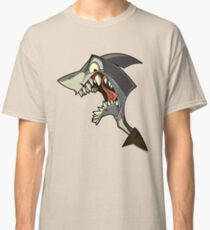Angry grey shark with shading Classic T-Shirt