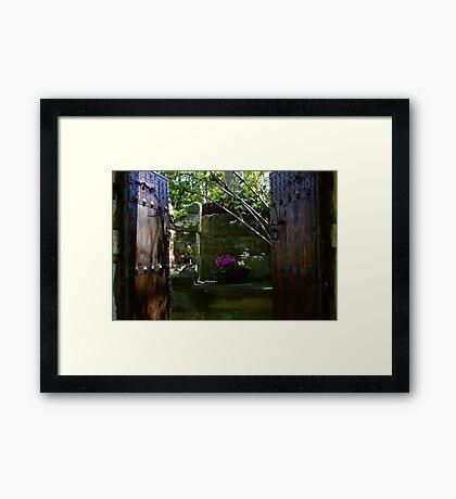 Doorway to the Secret Garden Framed Print