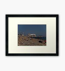 Bognor Regis beach, West Sussex, England, October Framed Print