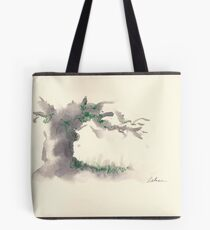 """""""Serenity""""  ink wash watercolor on paper. Tote Bag"""