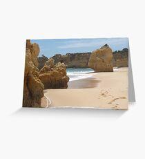 """Pure Beach""  West Coast of Albufeira, Portugal Greeting Card"