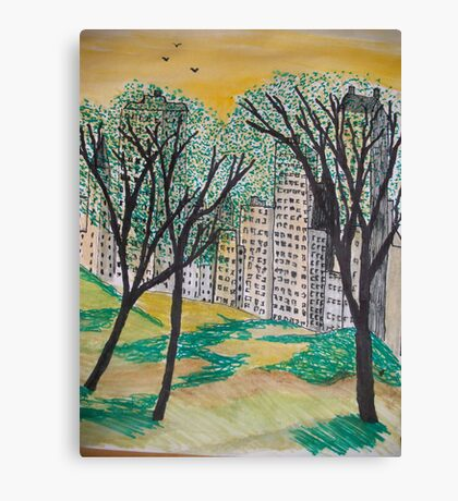 A veiw from the park Canvas Print