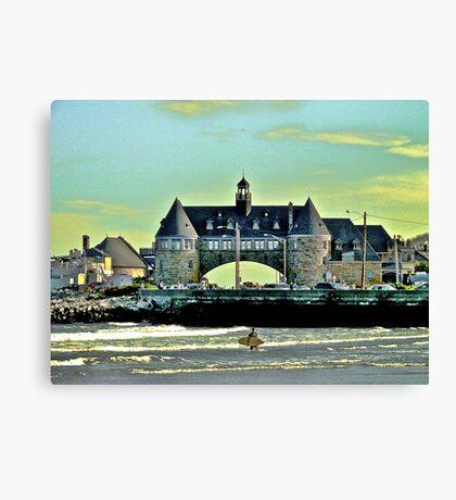 Narragansett Pier Beach - The Towers *featured Canvas Print