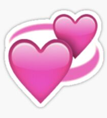 Revolving Hearts Emoji Sticker Sticker