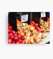 Onions and Potatoes Canvas Print