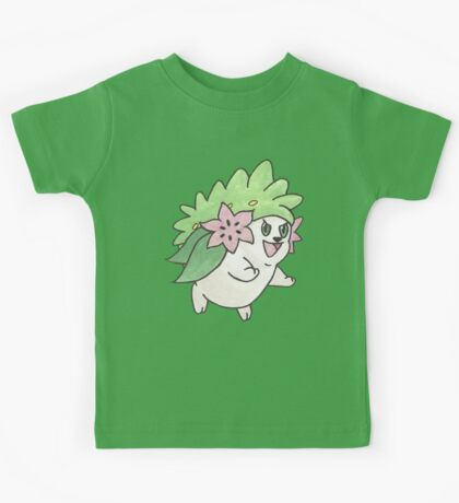 Shaymin Land Forme by Derek Wheatley Kids Clothes