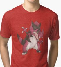 Krookodile by Derek Wheatley Tri-blend T-Shirt