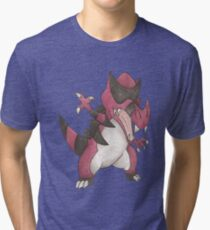 Krookodile by Derek Wheatley Tri-blend T-Shirt