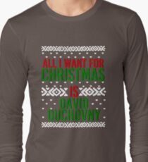 All I Want For Christmas (David Duchovny) Long Sleeve T-Shirt
