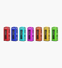 Rainbow of London Phone Booths Tee Photographic Print