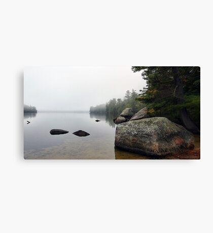 Granite Boulders - Bear Pond (Waterford,  Maine) Canvas Print