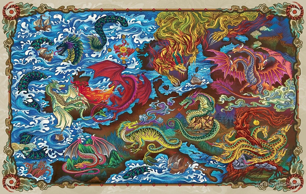 Map of Dragons by loraleedesigns