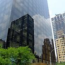 Reflections on glass building by medley