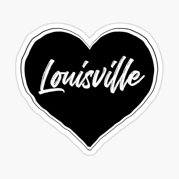 Louisville - Black Heart Edition Sticker