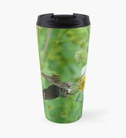 Long-tailed Blue Skipper on Spanish Needles Travel Mug