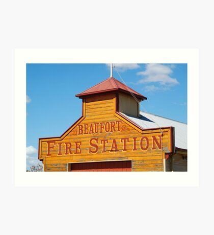 Beaufort Fire Station Art Print