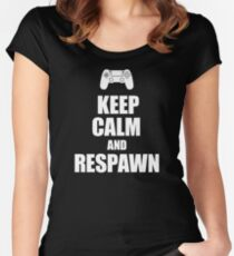 Gamer, Keep calm and respawn Women's Fitted Scoop T-Shirt