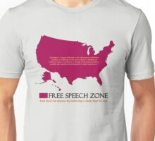 free speech zone Unisex T-Shirt