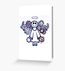 Peace Angel Blue Greeting Card