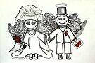 Wedding Angels Original by Lisafrancesjudd