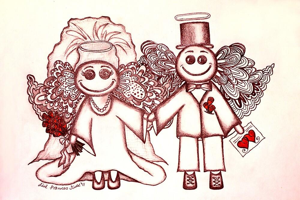 Wedding Angels Red by Lisafrancesjudd