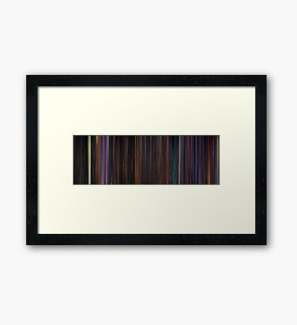 Moviebarcode: The Nightmare Before Christmas (1993) Framed Print