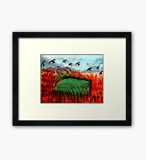 Last rays, time to settle in,,watercolor Framed Print
