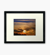 The sky at night  Framed Print