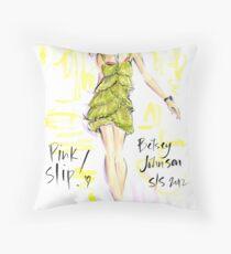 Pink Slip! Throw Pillow