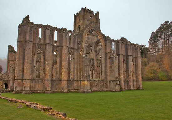 The Ruins of Fountains Abbey by Trevor Kersley