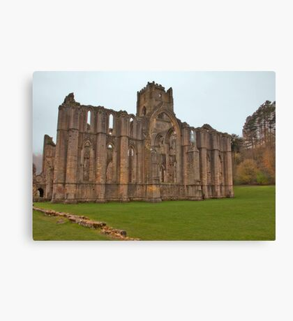 The Ruins of Fountains Abbey Canvas Print