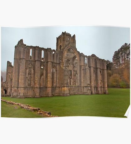 The Ruins of Fountains Abbey Poster