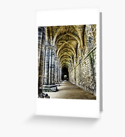 At the side of the Nave  - Kirkstall Abbey Greeting Card