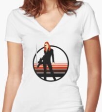 Action Pond Women's Fitted V-Neck T-Shirt