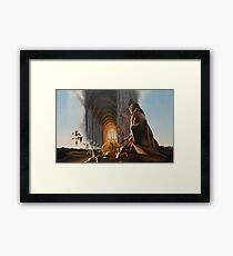 """Surreal Cathedral - oil on canvas - 50"""" x 31"""" Framed Print"""